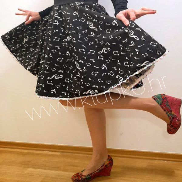 "10042019-1-2 Kratka suknja ""note"""