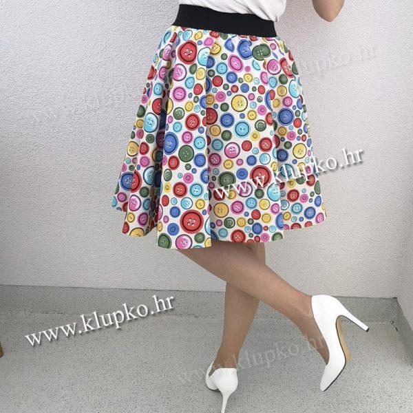 10042019-1-7 Kratka suknja gumbi