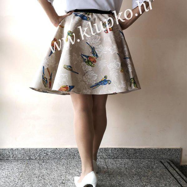 10042019-1-8 Kratka suknja papige