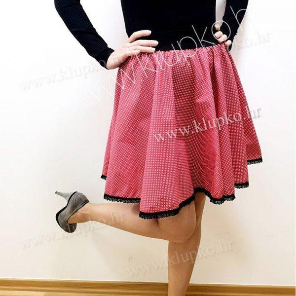 10042019-2-1 kratka suknja crvena s točkicama