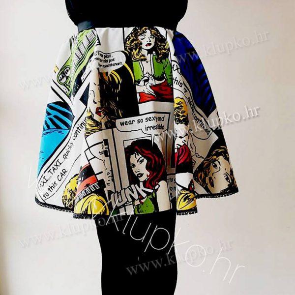 "10042019-1-4 Kratka suknja ""šareni strip"""