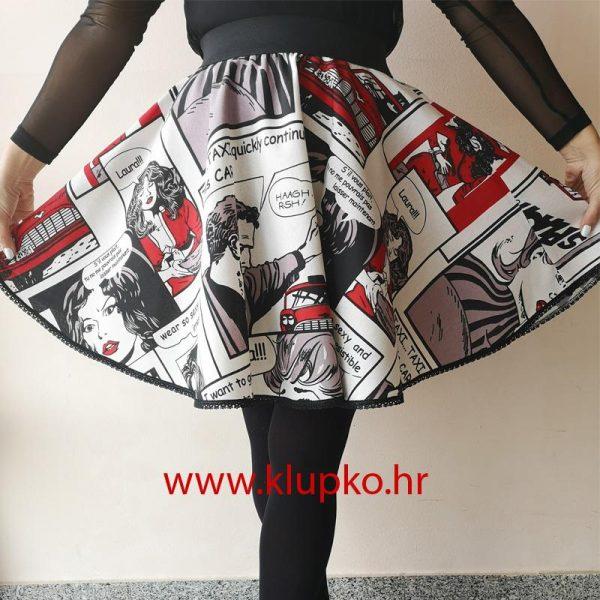 "10042019-1-3 Kratka suknja ""strip"""