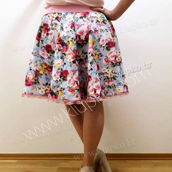 """10042019-1-5 Kratka suknja """"ružice"""""""